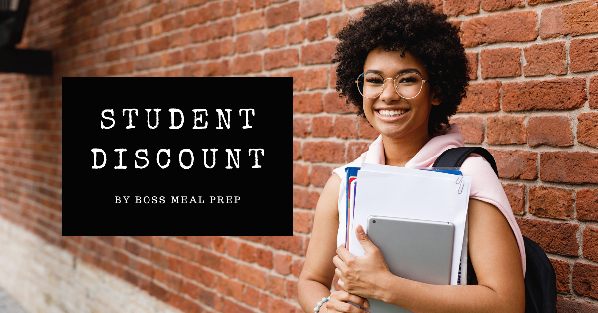 student discount by boss meal prep for healthy meals