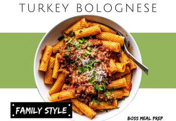 Turkey Bolognese (Family Style)